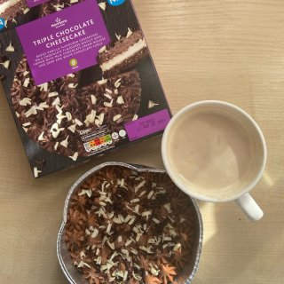 Morrisons Double Chocolate Cheesecake, 4