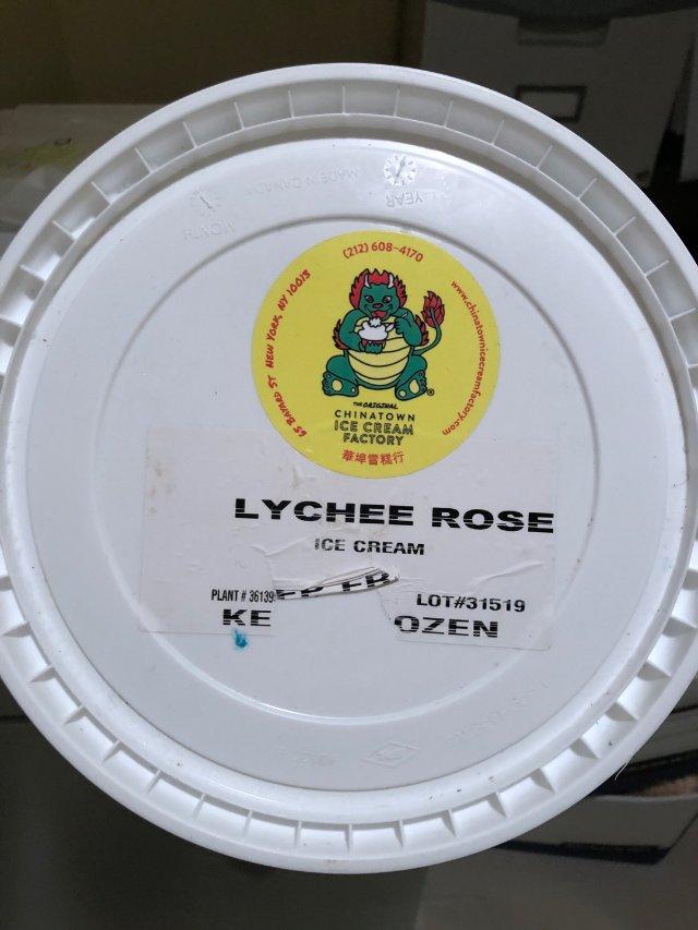 荔枝玫瑰口味的冰淇淋