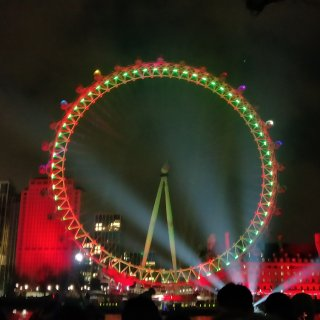 伦敦跨年烟火!...