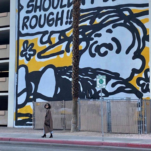 Vegas downtown 网红墙打卡
