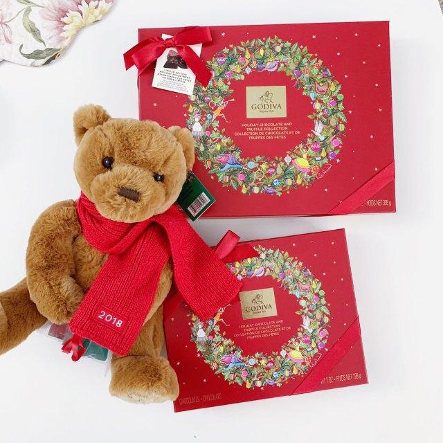 🌟Godiva圣诞限量🐻礼盒和巧克...