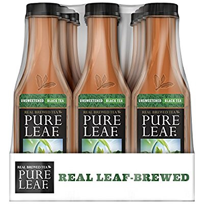 零卡路里的Pure Leaf unsweetened Iced Tea, (18.5 Oz 12瓶装) 仅售10.38 部分prime会员另有15%off