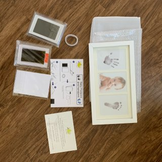 测评的手印脚印照片纪念册
