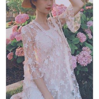 微众测🍑 夏季穿搭· 欧根纱花朵仙女裙✨