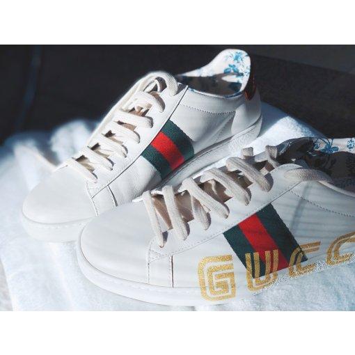 跟风收了一双Gucci小白鞋👟