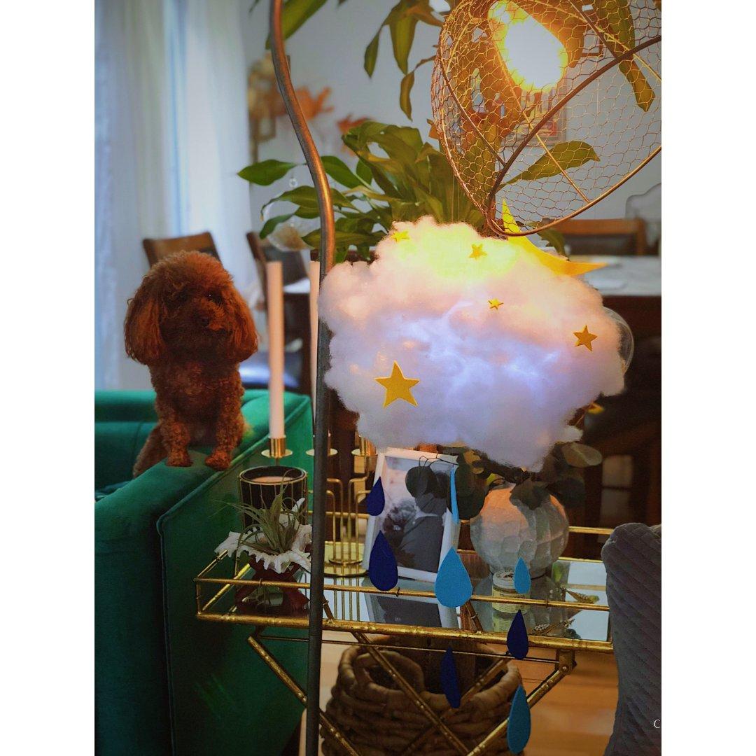 自制居家装饰云朵灯分享