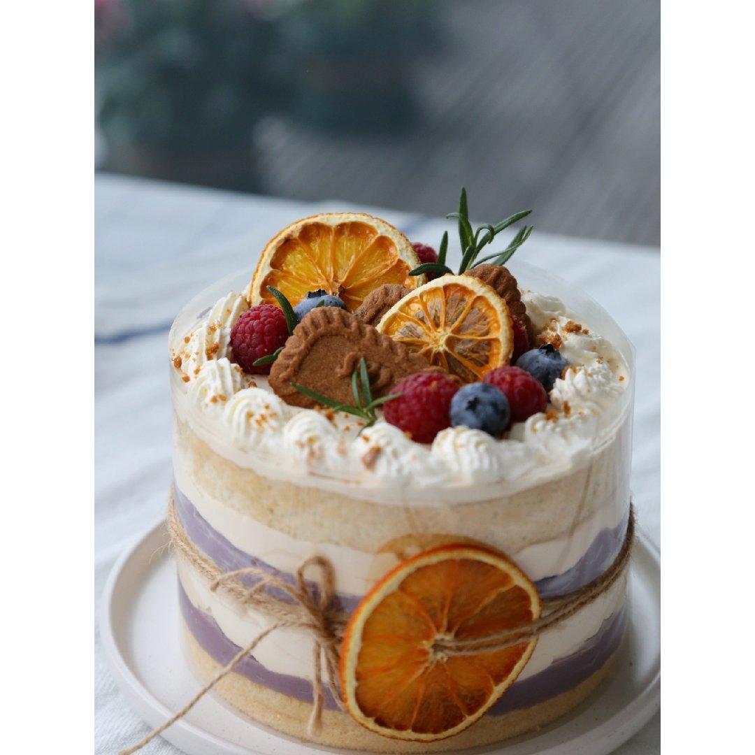 焦糖芋泥蛋糕,和秋天很搭