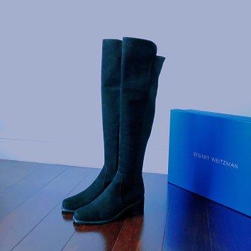 官网75折收了一双reserve款的过膝靴,4厘米的跟...