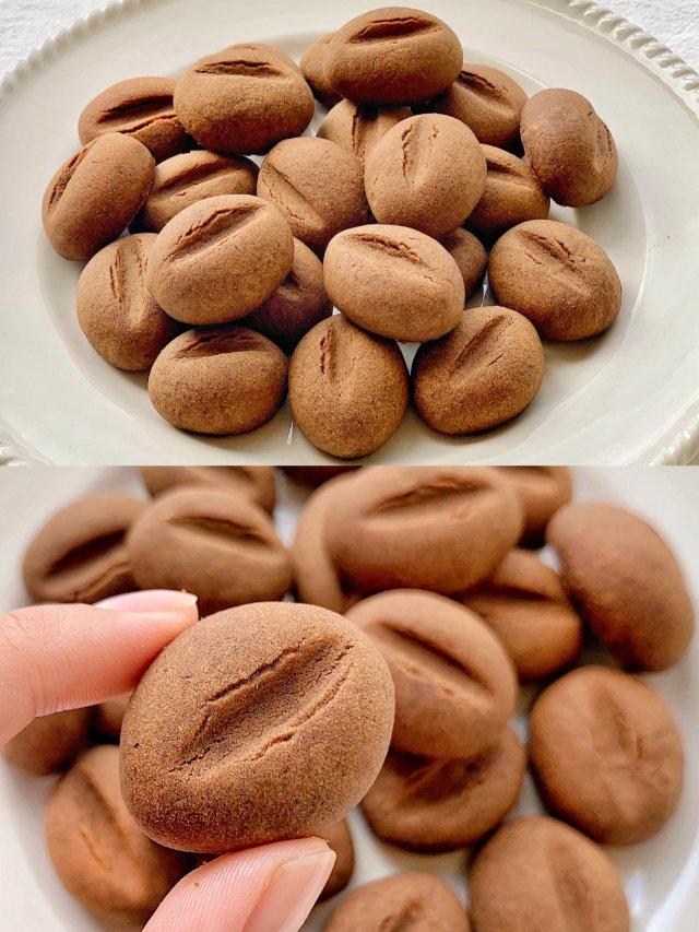 ㊙️萌化了‼️酥脆可口的咖啡豆饼干...