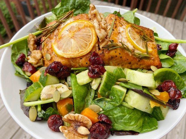 减脂吃什么🥗|烤三文鱼沙拉🐟