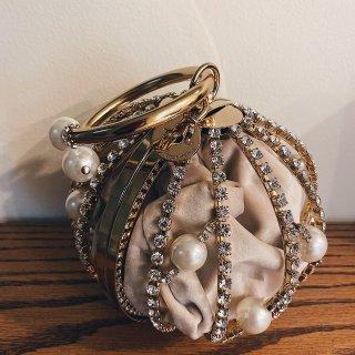神仙包包 Rosantica珍珠水钻球形...