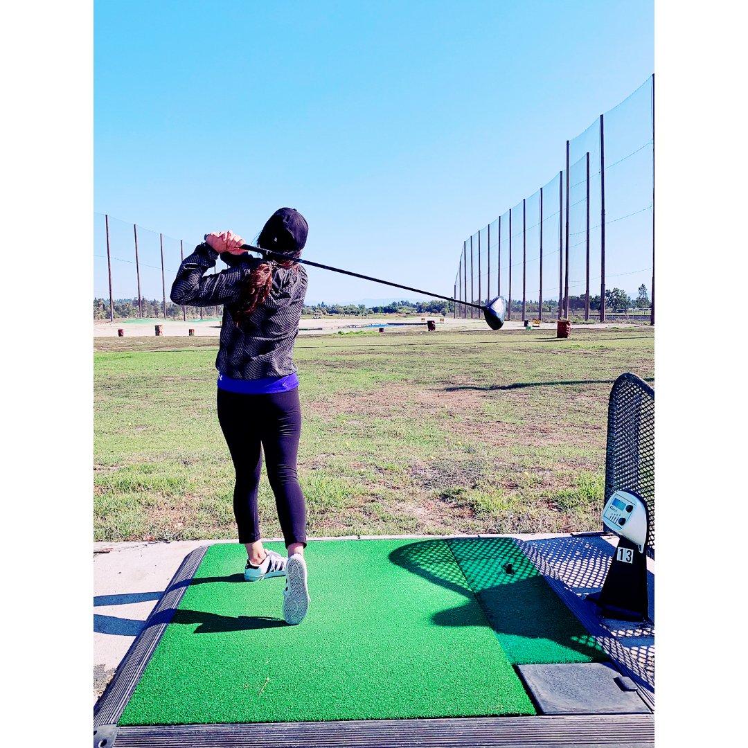 1️⃣下半年希望能学好刚会打的高尔夫球