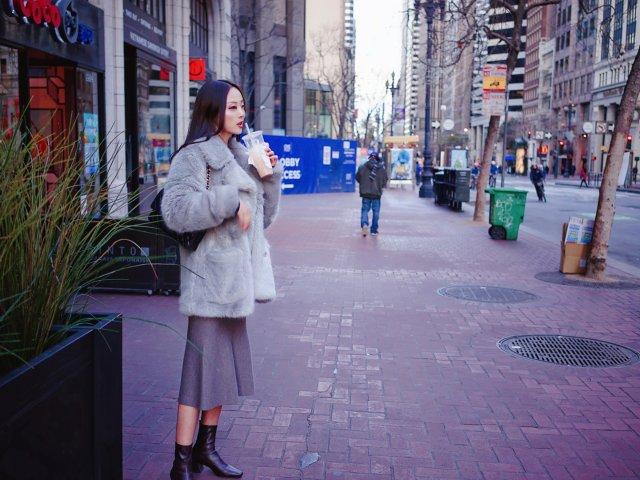 🎅🏻冷到崩溃的三番|毛毛大衣怎么穿?