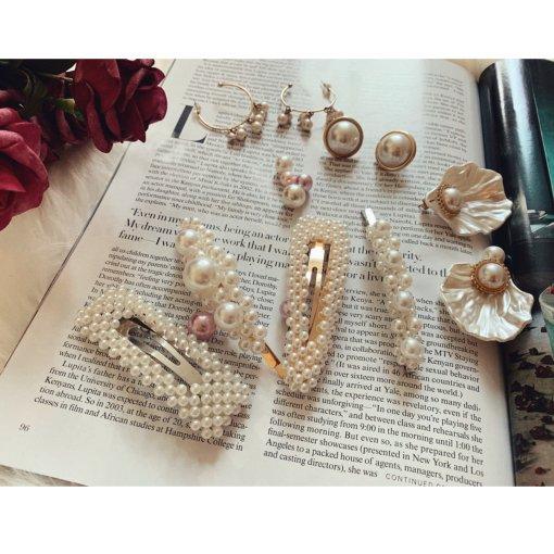 仅售5刀的亚马逊的珍珠发卡套装