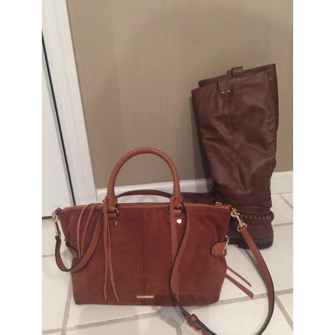 包包鞋子一个色-2 棕色