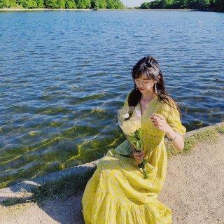 Mango绝美淡黄色长裙 美女与野兽 款...