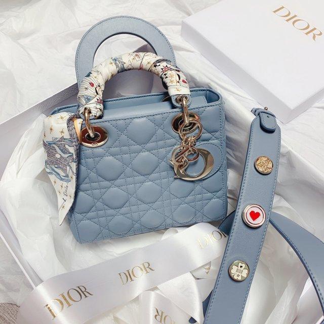 Lady Dior——四格——雾霾蓝