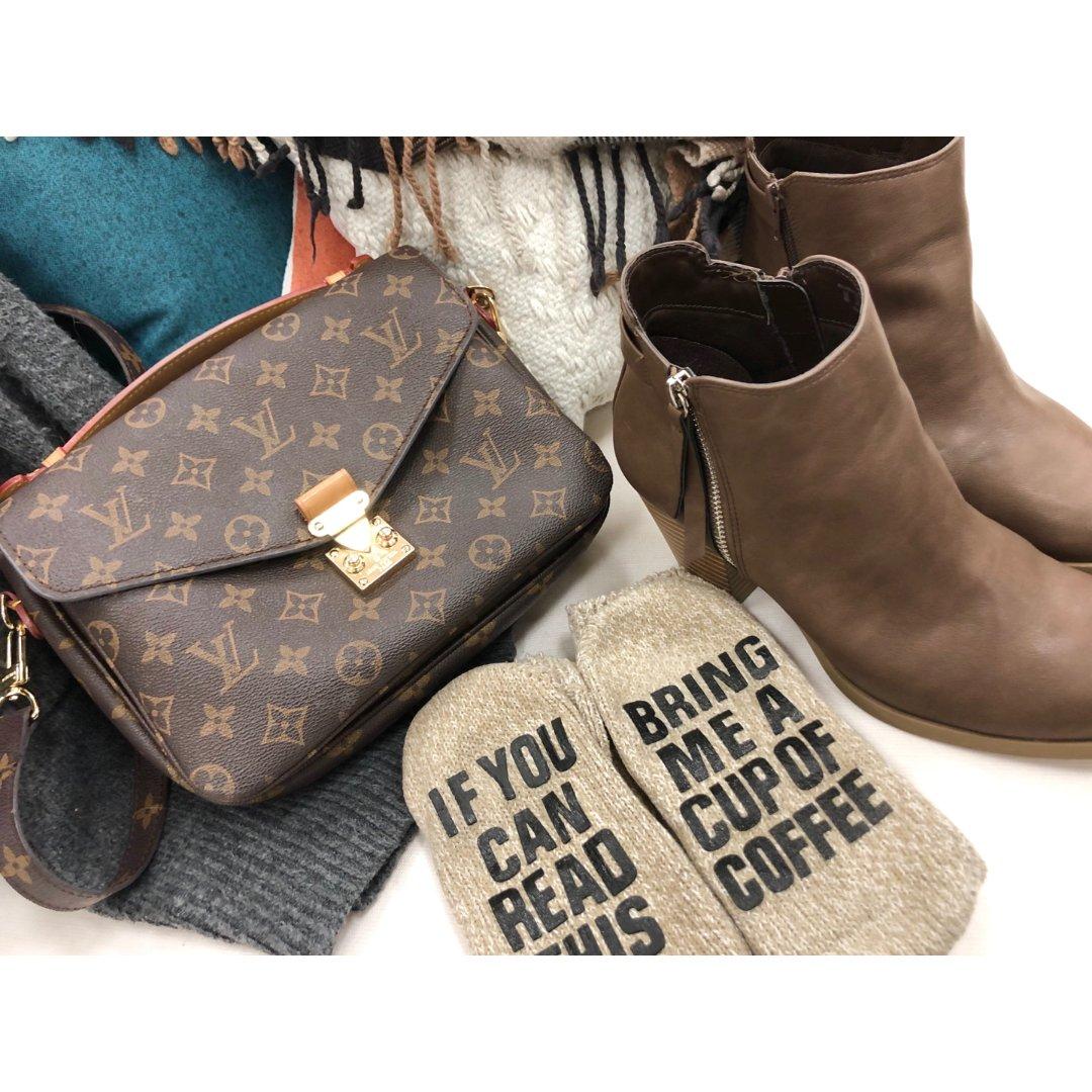 咖啡系♥包包鞋子一個色