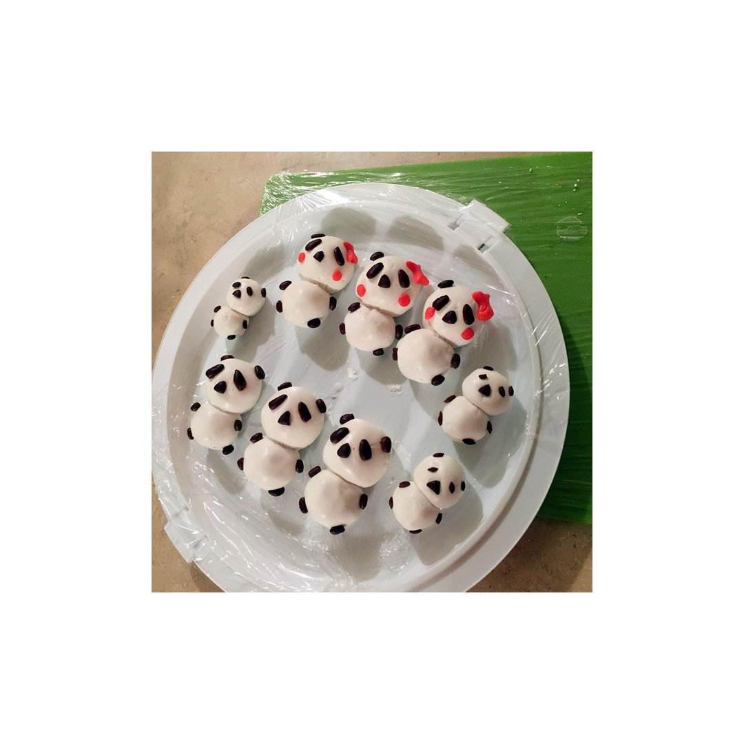 DIY美食---超阔爱的熊猫元宵~...