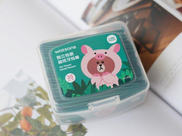 居家旅行必备好物 猪猪布朗熊便携牙线棒🐷