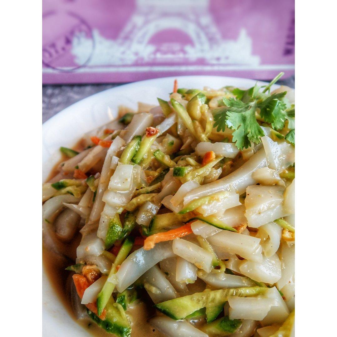 快手菜-黄瓜拌凉粉