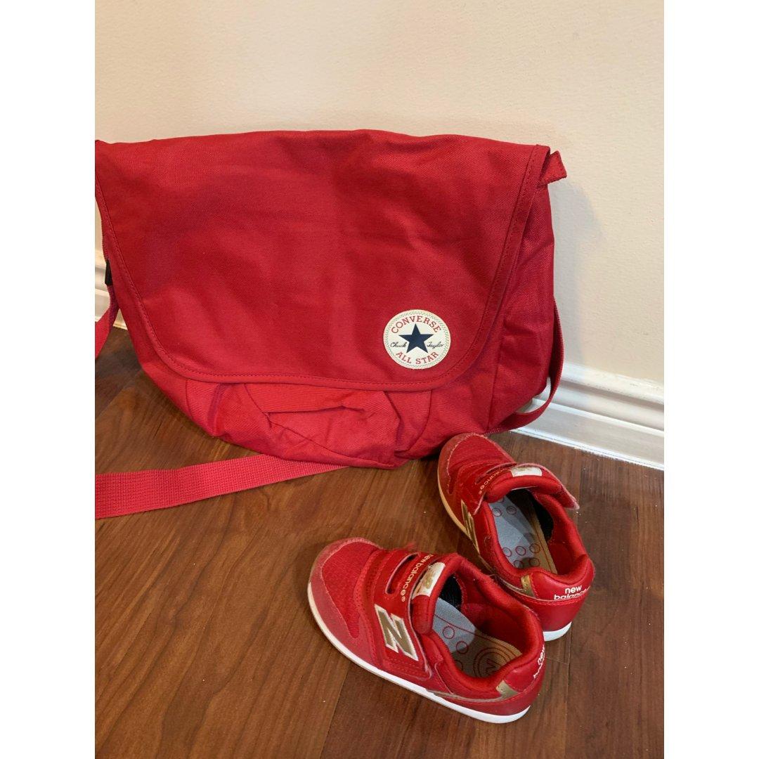 包包鞋子一个色之红色
