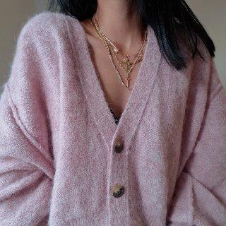 穿搭🖤属于秋天的香芋紫开衫...