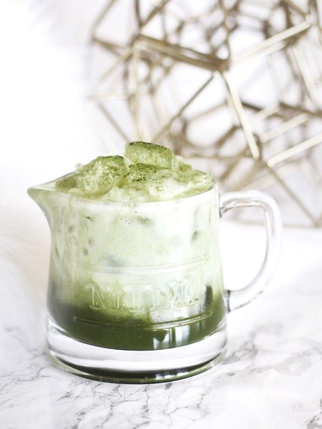 春天里的一抹绿之抹茶牛奶🥛