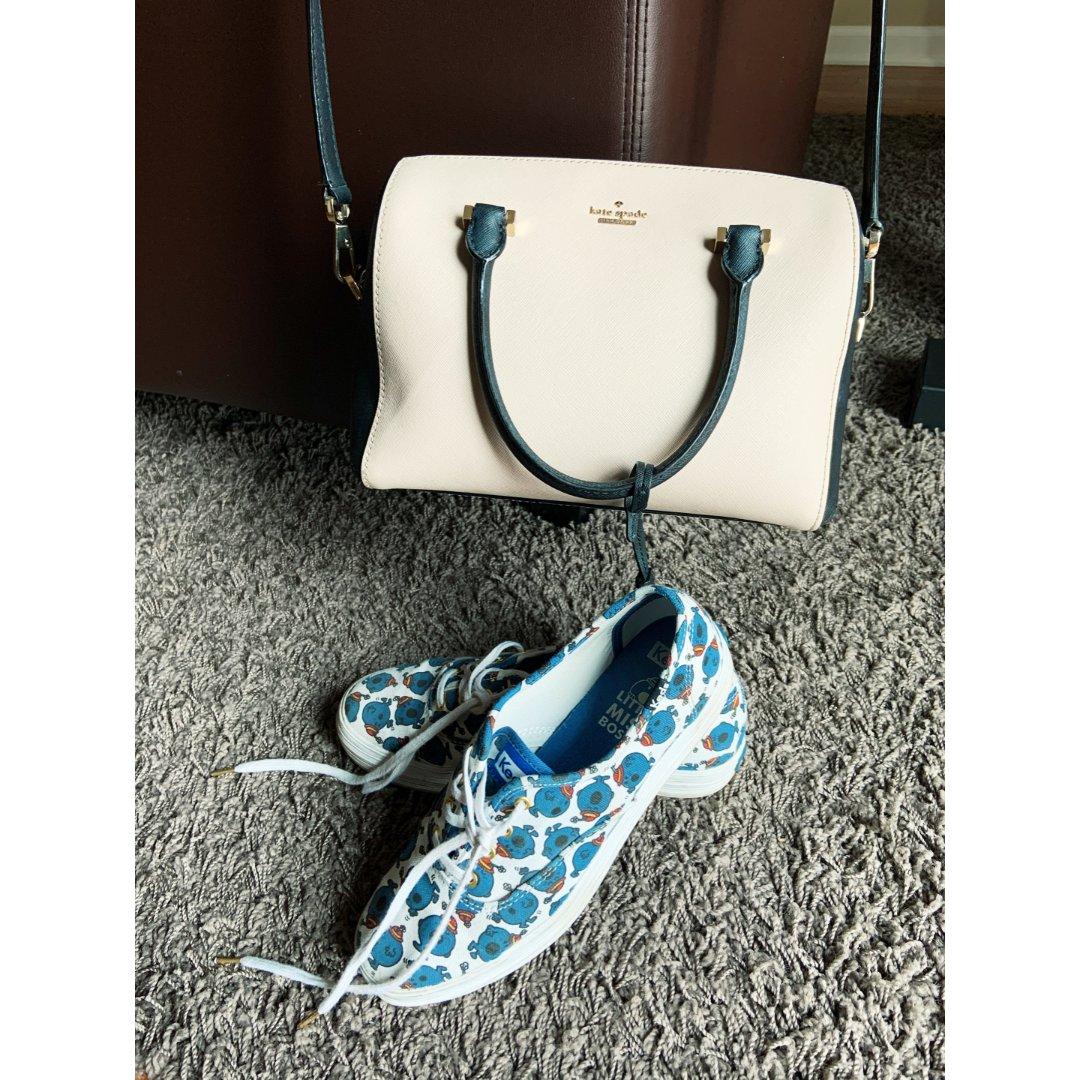 小白鞋和lane bag