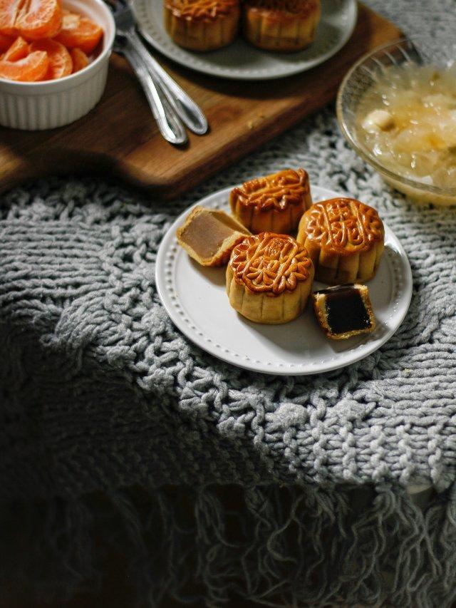 中秋节后的月饼晒货:生计云裳四色月饼