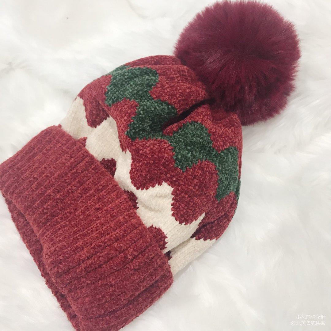 圣诞🎄不能少/冬日里的保暖红色帽子....
