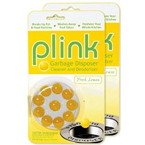 Amazon.com: Plink Garbage Disposal Cleaner and Deodorizer, Original Fresh Lemon Scent, Value 2-Pack for 20 Cleanings: Home & Kitchen