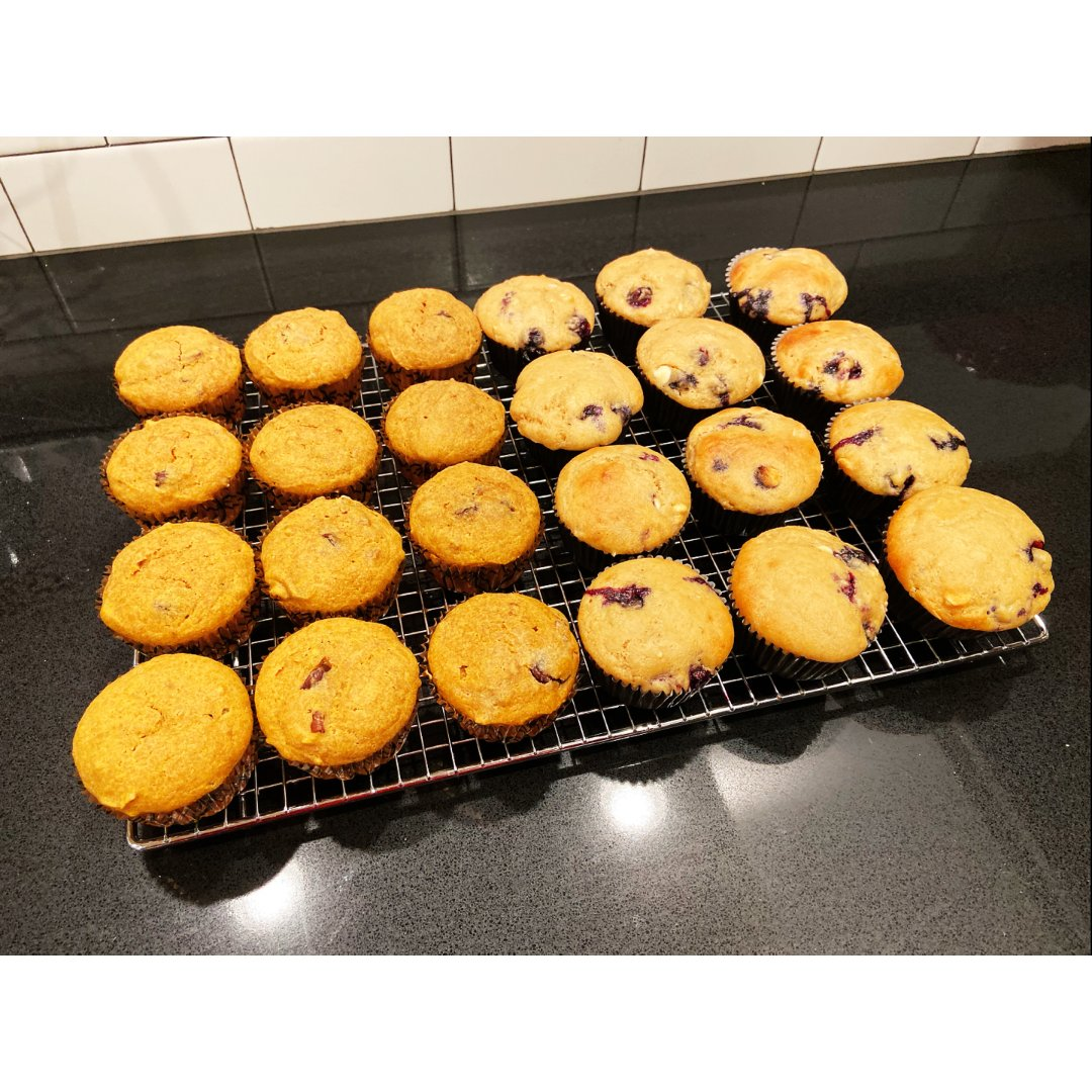 冬日烘培 | 蓝莓,南瓜muffins