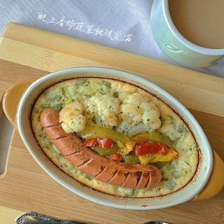 是日料理|葱香荷兰松饼·低碳水版🥞...