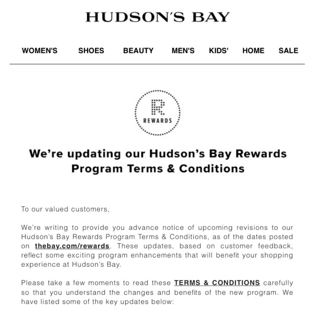 Hudson's Bay,新人集结号