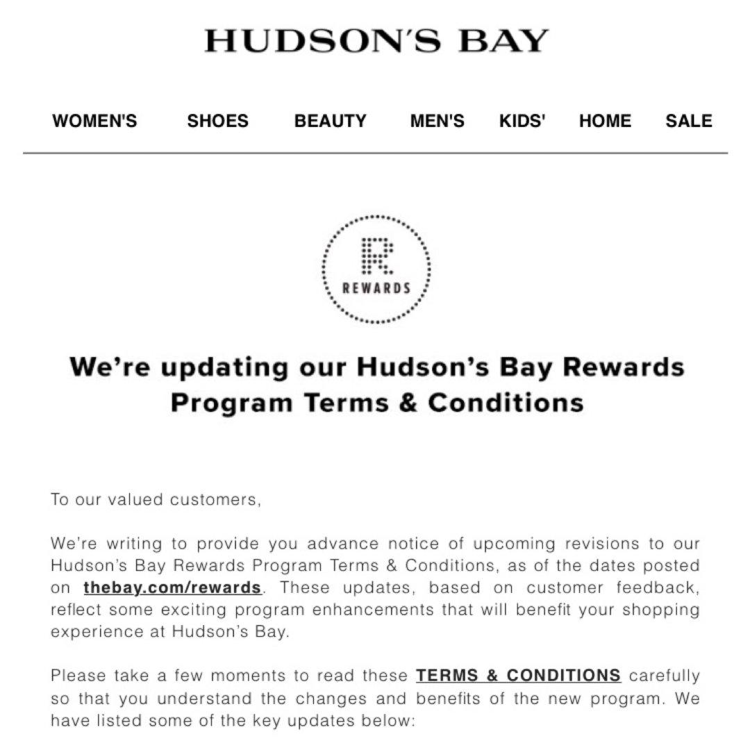 Hudson's Bay Rewa...