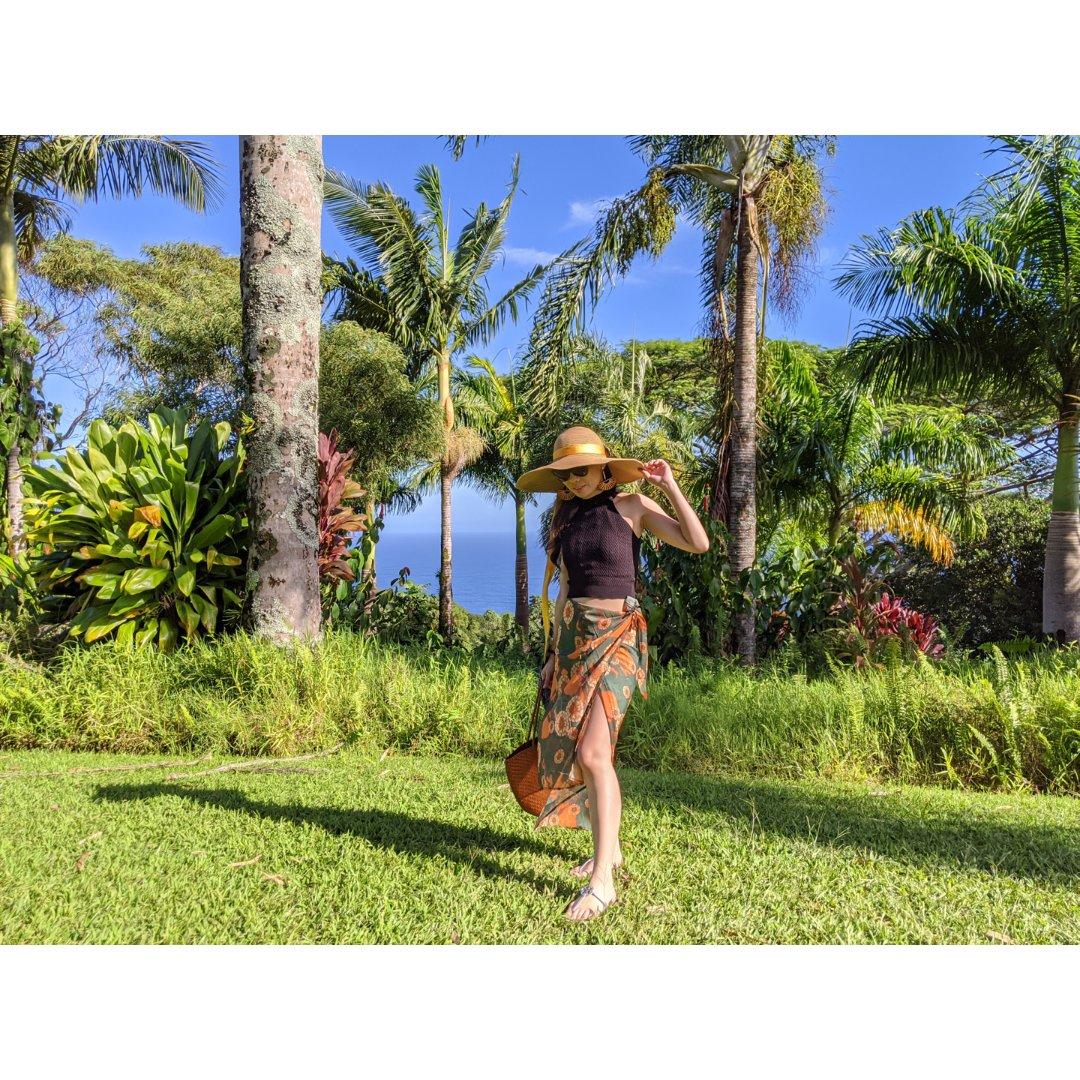 夏威夷度假穿搭 大花裙子热带风情