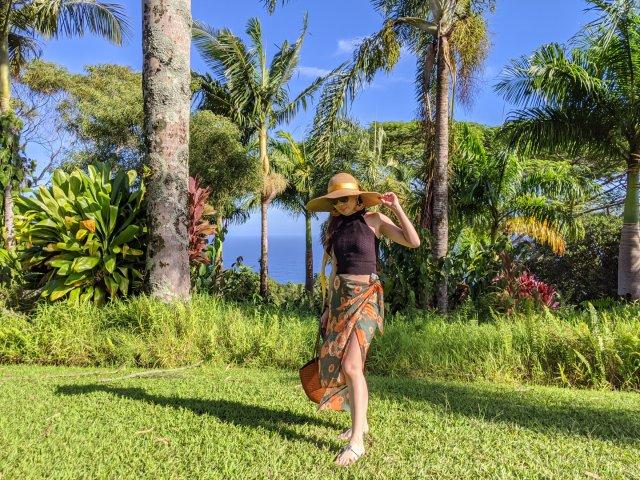 夏威夷度假穿搭|大花裙子热带风情