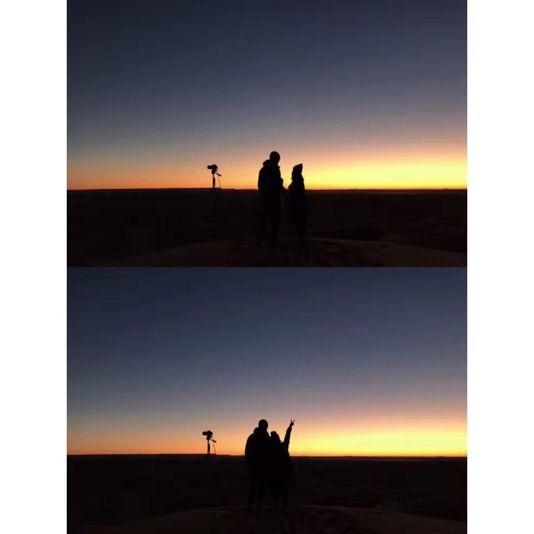 跟最爱的你❤️看撒哈拉的日出...