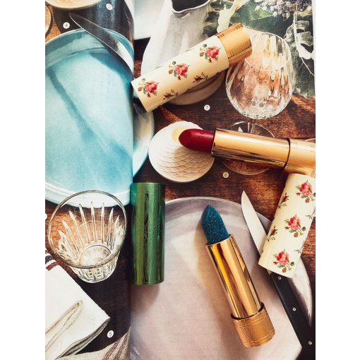 【Gucci圣诞口红】710Fay Turquoise 冰蓝