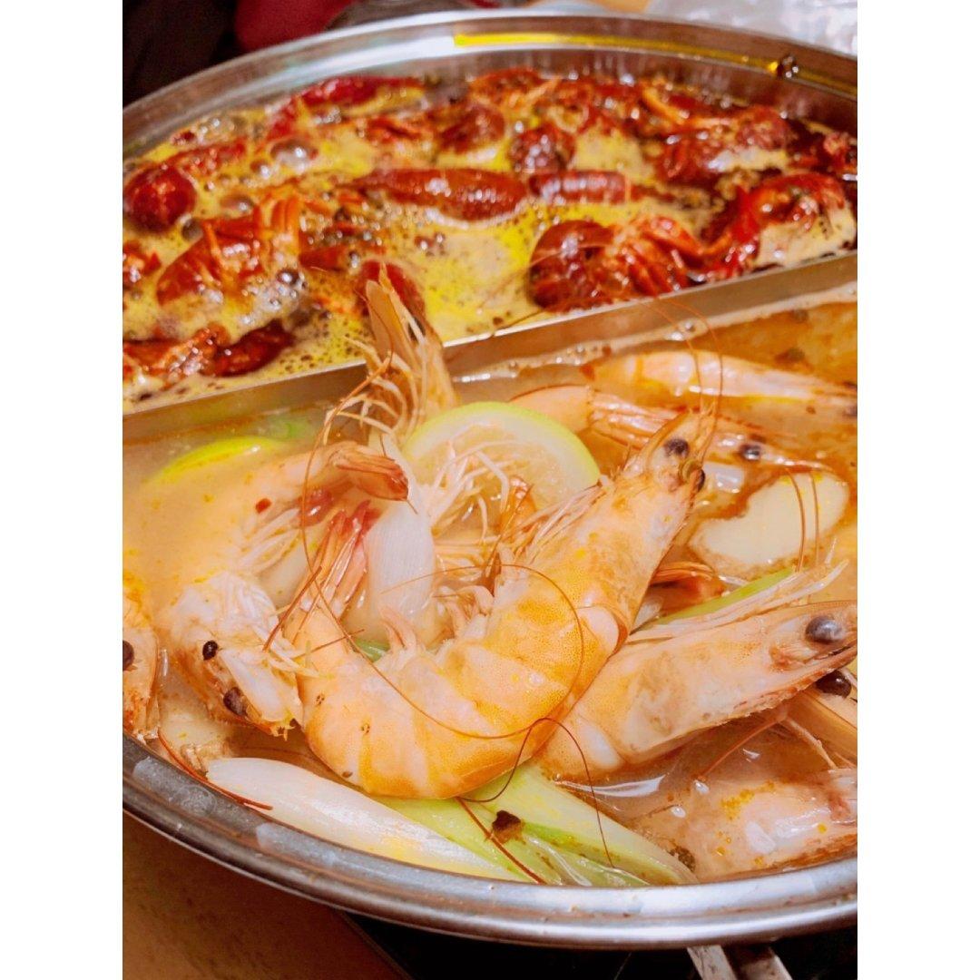 深夜食堂|麻辣小龙虾和柠檬虾一锅两吃