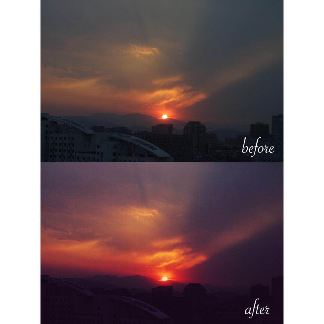 夕阳🌇VSCO教程 | 分离色调的使用