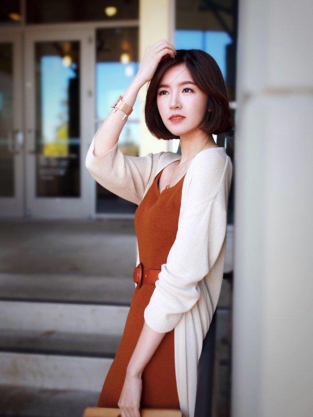 【穿搭】一条爱到不行的脏橘色针织裙