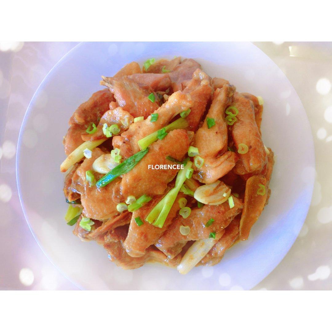 懒吃货美食摊|米饭杀手之生炒姜葱鸡
