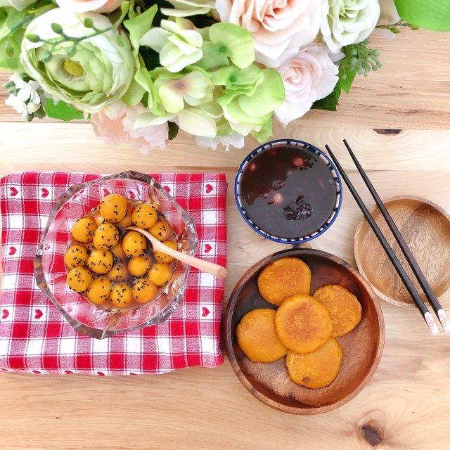 软糯香甜的南瓜饼➕南瓜糯米丸子