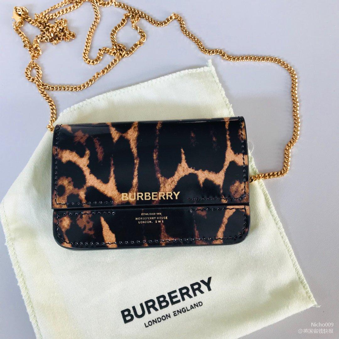 45镑的Burberry链条卡包...