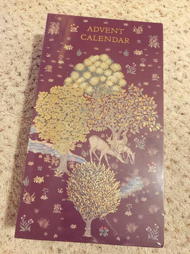 第一个圣诞日历盒子