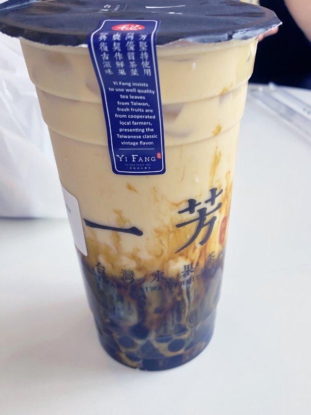 一芳黑糖奶茶