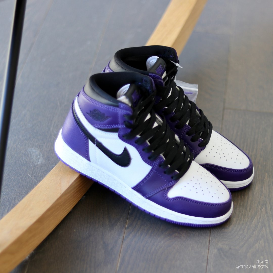 AJ 1 白紫脚趾~上脚真香!
