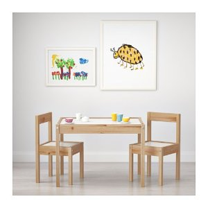 LÄTT Children's table and 2 chairs, white, pine - - - IKEA